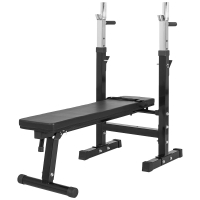 banc musculation avec support barres