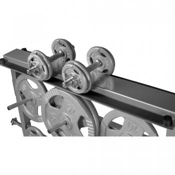 Rack de rangement pour poids et haltères 30/31mm - Argenté GS003