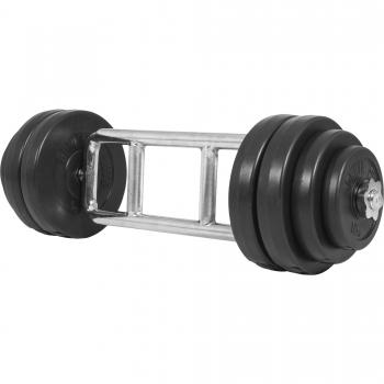 Set pour triceps avec disques revêtement en plastique 35KG