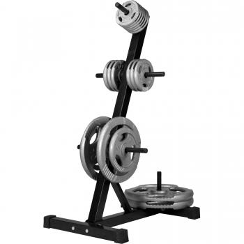 Rack de rangement pour poids disques - noir ou blanc