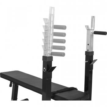 Banc de musculation avec support de barres GS006 Noir