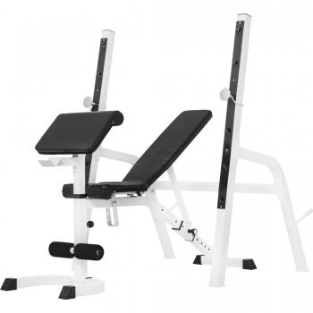 Banc de musculation avec repose-barre séparé NOIR ou BLANC