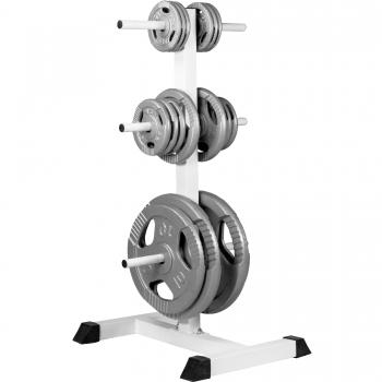 Rack de rangement pour poids disques - blanc GS015