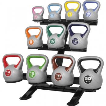 Rack de rangement pour 11 kettlebells