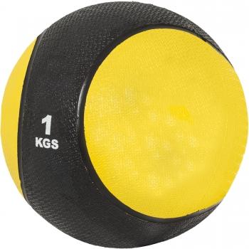 Médecine ball 1kg jaune/noir