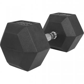 1 x  30kg Haltère Hexagonal en Caoutchouc