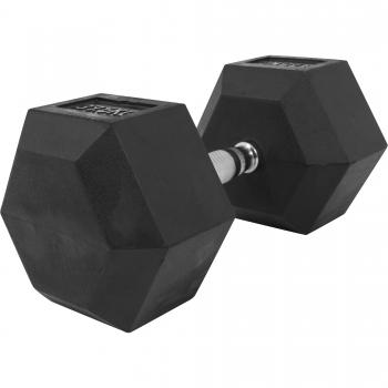 1 x  37,5kg Haltère Hexagonal en Caoutchouc