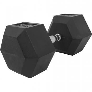 1 x  42,5kg Haltère Hexagonal en Caoutchouc