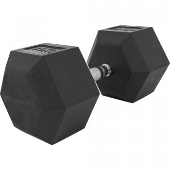 1 x  45kg Haltère Hexagonal en Caoutchouc