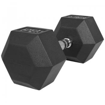 2 kg à 50 kg Haltère Hexagonal en Caoutchouc