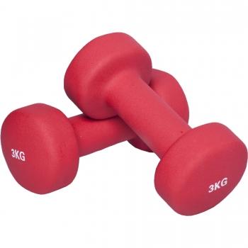 6 KG (2x3,0) Haltère fitness en vinyle rouge