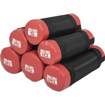 Fitness bag noir/rouge - Sac lesté de 5kg à 30kg