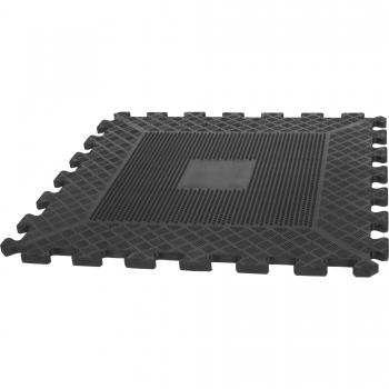 Tapis puzzle de protection avec bordures 1,2cm d'épaisseur en caoutchouc 16 éléments