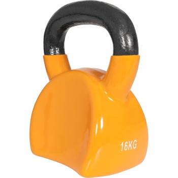 Ergonomique kettlebell en fonte avec revetement en vinyle de 16kg