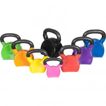 Ergonomique kettlebell en fonte avec revetement en vinyle de 4 à 32kg