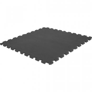 Tapis puzzle de protection avec bordures interconnectables de 1,2cm d'épaisseur en mousse EVA 18 éléments NOIR