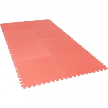Tapis de protection interconnectables de 1,2cm en mousse - EVA 8 carré de 60x60cm Rouge