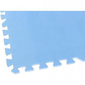 Tapis de protection interconnectables de 1,2cm en mousse - EVA 8 carré de 60x60cm Bleu