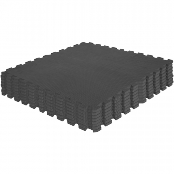 Tapis de protection Interconnectables de 1,2cm en mousse - EVA 8 carré NOIR