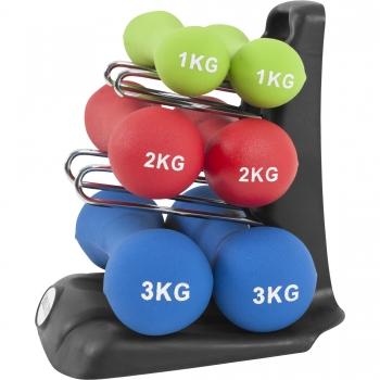 12kg Ergonomique Dumbbell Set (2x1Kg, 2x2Kg und 2x3Kg)