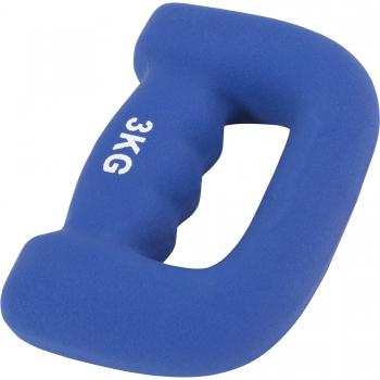 """Paire 6kg (2x3kg) Haltères fitness en néoprène ergonomique """"letter shape dumbbells"""""""