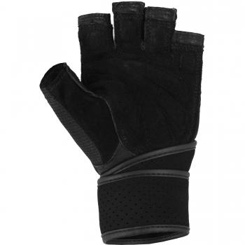 Gorilla Sports Gants d'entrainement + bande de soutien pour articulations NOIR/ROUGE taille M