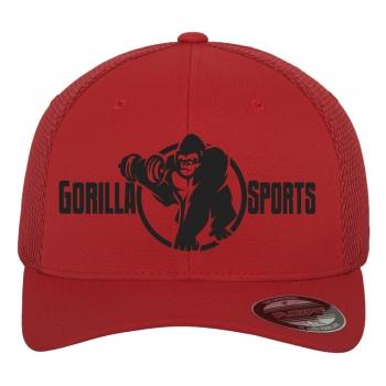 Casquette Gorilla Sports FLEXFIT Tactell Mesh rouge S/M