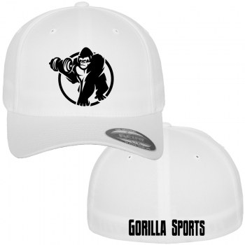 Casquette Gorilla Sports FLEXFIT Wooly Combed blanc S/M