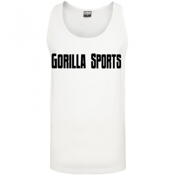 Gorilla Sports Tank Top blanc – GORILLA SPORTS - XXL