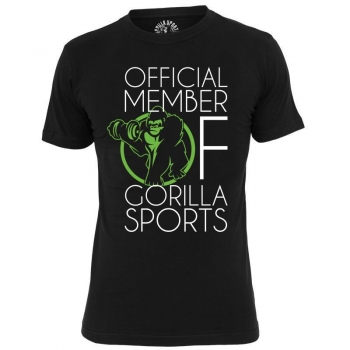 GS001 Official Member of Gorilla Sports T-Shirt  noir - L