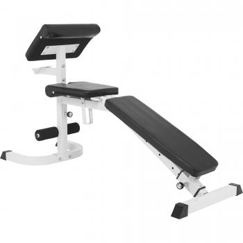 Banc de musculation réglable incliné/décliné avec pupitre à biceps