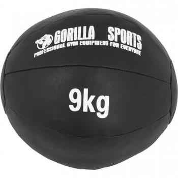 Médecine Ball Gorilla Sports Cuir Synthétique de 9 KG