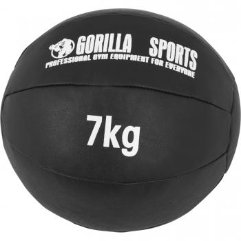 Médecine Ball Gorilla Sports Cuir Synthétique de 7 KG