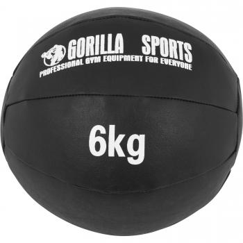Médecine Ball Gorilla Sports Cuir Synthétique de 6 KG