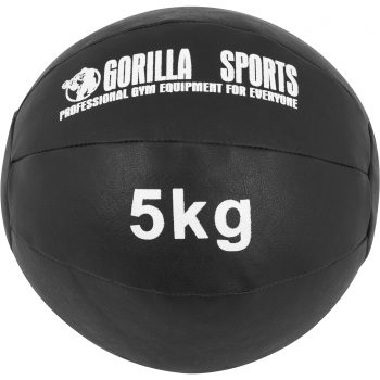 Médecine Ball Gorilla Sports Cuir Synthétique de 5 KG