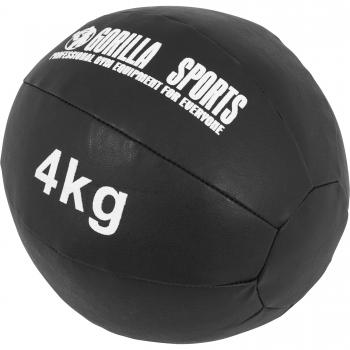 Médecine Ball Gorilla Sports Cuir Synthétique de 4 KG