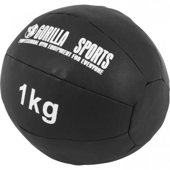 Médecine Ball Gorilla Sports Cuir Synthétique de 1 KG