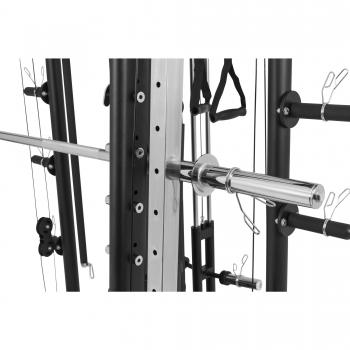 Smith machine Machine Gorilla Sports avec Power rack, Multi Station et Presse.