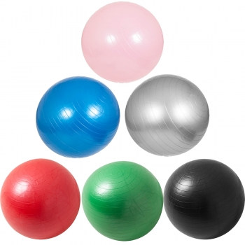Swiss ball - Ballon de gym de plusieurs tailles 55cm, 65cm, 75cm et en couleurs : bleu, gris, fuchsia, noir, rouge, vert