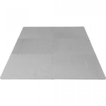 Tapis puzzle de protection avec bordures interconnectables de 1,2cm d'épaisseur en mousse EVA 18 éléments GRIS