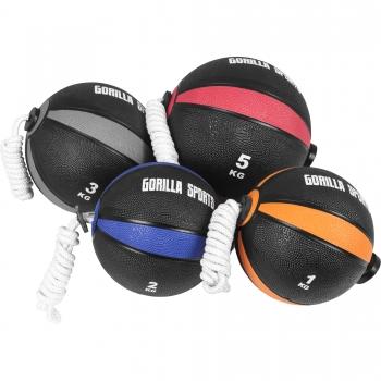 Ballon d'exercice avec corde de- tornado ball disponible en 1kg, 2kg, 3kg et 5kg