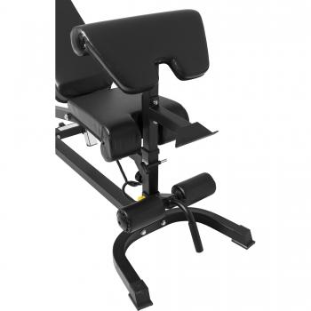 Banc multi positions avec accessoire jambes et Curl adapté à une utilisation intensive à domicile