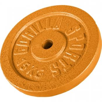 Poids disque en fonte 15 Kg Couleur Or