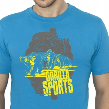 Gorilla Sports Evolution T-Shirt BLEU