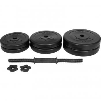 Gyronetics E-Series 1 x barre courte avec des poids en plastique 20kg GN014