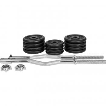 Gyronetics E-Series Curl-set poids en fonte 30 kg GN019