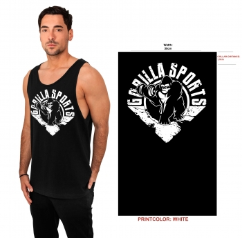 Gorilla Sports Tank Top S à 3XL Noir/blanc