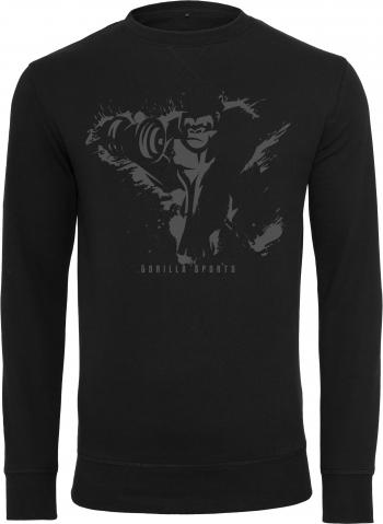 Gorilla Sports Crewneck sweatshirt Black/Dgrey / M