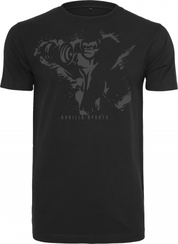Gorilla Sports Basic Tee  Black/Dgrey / M