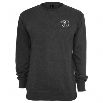 Gorilla Sports Sweatshirt charcoal – CREW logo blanc L